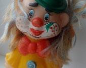 vintage soviet rubber toy - clown