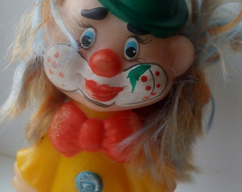 vintage soviet rubber toy - clown