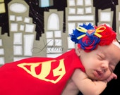 Superman Shabby Chiffon Red Royal Blue Yellow Flower Headband Or Hair Clip Photo Prop Bow Newborn Girls Baby Felt Rose HEART