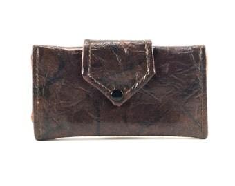 Vintage Large Brown Leather Wallet