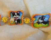 Boston Terriers At The Park Bracelet