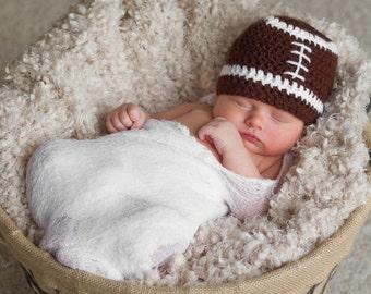 Baby Football Hat, Newborn Hat for Boys, Baby Hat, Baby Sports Hat, Baby Football Beanie, Baby Boy Gift