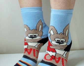 Children Socks Rabbit Socks Boot Socks Leg Warmer Christmas Socks Fun Socks Casual Cotton Socks Cute Ankle Socks Cotton Socks Printed Socks
