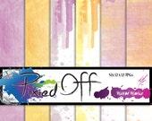 Creative Staples - Spring Water Color Backgrounds - 12x12 Instant Download Digital Art Journal Scrapbook Sheets