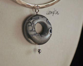 Polymer Clay Air Pendant - WEARABLE ART!!