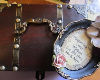 Fairytale Wedding Guest Book Alternative Victorian Steampunk Vintage Key Included