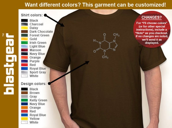 Chocolate Molecule funny T-shirt — Any color/Any size - Adult S, M, L, XL, 2XL, 3XL, 4XL, 5XL  Youth S, M, L, XL