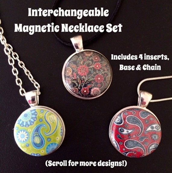interchangeable magnetic necklace or bracelet with 4 magnetic