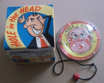 Vintage Hole In The Head Game,Original Box,Jim Prentice Electric Games