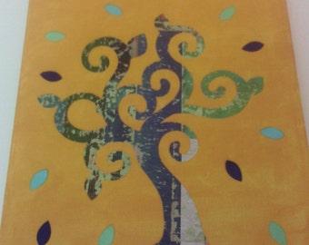 Earth tree Canvas Art