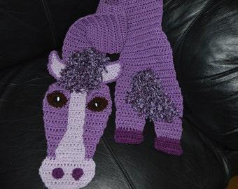 Crocheted Horse Scarf