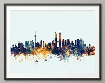 Kuala Lumpur Skyline, Kuala Lumpur  Malaysia CityscapeArt Print (1762)
