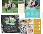 INSTANT DOWNLOAD - Photography Marketing boards bundle - Psd Newsletter  templates - E701