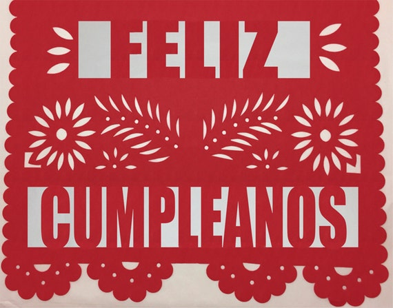 Fiesta Papel Picado Banner Includes Name Amp Happy By