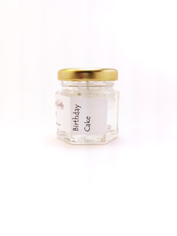 Birthday Cake Candles Scented Mini Jar Gel By