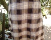 man's sarong light tan and cream with purple edging cheque design MA2