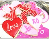 Valentine Sugar Cookies Iced Cookie Hearts Hugs Kisses Mix Decorated Valentine Cookies Bright