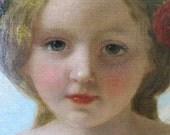 19th C. Oil Portrait by Frederick R. Say, English, Miss Sophia Hills
