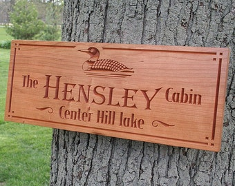 Cabin Sign, Lakehouse Sign, Family Name Sign, Benchmark Custom Signs, Rustic Wedding Sign, Rustic Home Décor, Benchmark Signs Cherry TD
