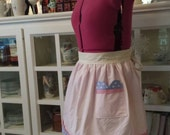 Woman's gingham cupcake apron