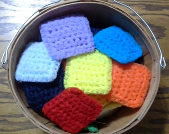 Double Layer Square Nylon Pot Scrubbers (Set of 2)