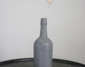 Gray One Quart Bottle Table Vase