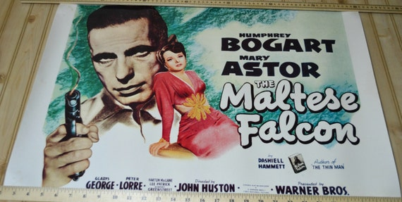 vintage the maltese falcon movie poster humphrey bogert mary