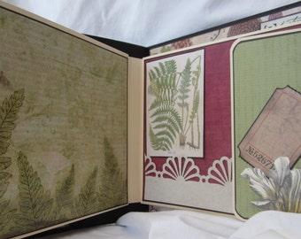"Junk Journal 9.5"" x 7.5"", Pre Made Photo Album, Scrapbook Album by Island Lilly Designs"