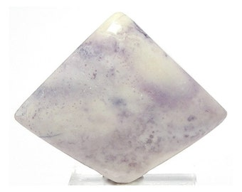 Bertrandite Pastel Purple and Ivory Flat Back Cabochon Utah Opalized Fluorite Hand Crafted Loose Jewel