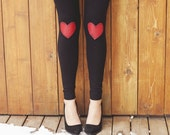 My Leather Heart Leggings // size large