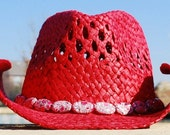 CLEARANCE Crimson Cowgirl Hat