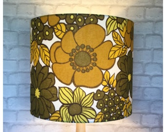 Lamp Shade Vintage 1970s  Fabric Standard Lamp Various Sizes