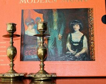 Brass Candle Holders Vintage Retro Candle Sticks Danish Modern Decor Mad Men Home Living Retro Lighting Scandinavian Room Design Home Living