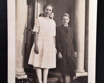 Original Antique Photograph Privileged Upbringing