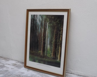 Vintage Home Decor/ Loyal H Chapman/ Infamous Golf Hole Series/ No. 3 Redwood Forest Golf Course/ Vintage Frame/ Golf/ Wall Hanging