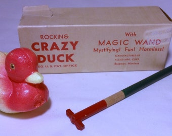 Vintage Rocking Crazy Duck with Magic Wand 1960's