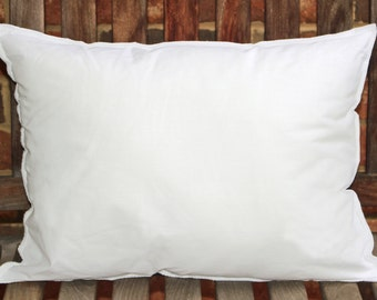 Pillow insert for custom pillow covers