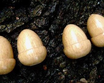 4 Oak acorn lighpulls or cord pulls 4cm long