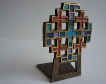 VintageMid Century Book End 1969 Terra Sancta Guild Brutalist
