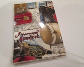 Passport Cover Vintage Travel fabric & Vinyl Protector Destination Wedding Favor Cruise Travel Accessory Bridal Party Gift Card Holder