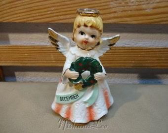 Vintage 1950's Christmas December Angel Figurine Made in Japan