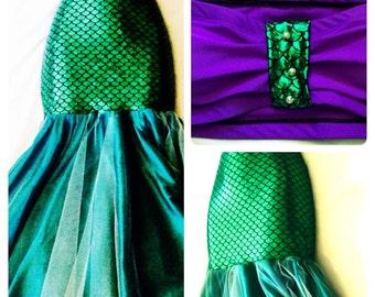 SIRENE- mermaid costume, mermaid tail costume, mermaid outfit, mermaid top, mermaid suits, Ariel Adult Costume, The Little Mermaid Adult