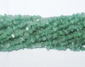"Green Aventurine Chip Gemstone Bead - 35"" Strand"