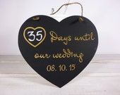 Personalized Engagement Gift Photo Prop Wedding Countdown Chalkboard Sign Countdown to Your Big Day Days Until Our Wedding YOUR WEDDING DATE