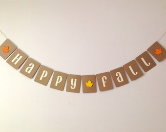 happy fall banner, thanksgiving banner, harvest banner, autumn banner, classroom banner,decoration, photo prop