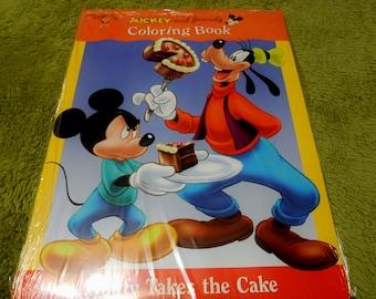 Vintage Disney & Friends 2 Set Coloring Books NIP ~ Frame the Covers Art