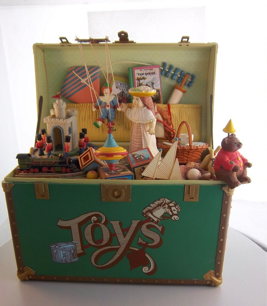 Toys And Treasures : Enesco toy symphony musical treasure chest of by