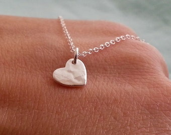 Silver Heart Necklace, Sterling Silver Necklace, Silver Heart Necklace, Heart Pendant, Valentines Day Gift, Gift For Her
