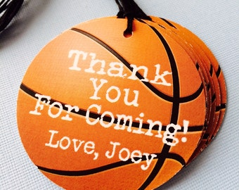 Basketball Themed Party Favor Tags