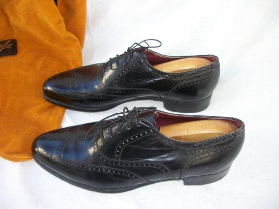 vintage florsheim black dress shoes the by